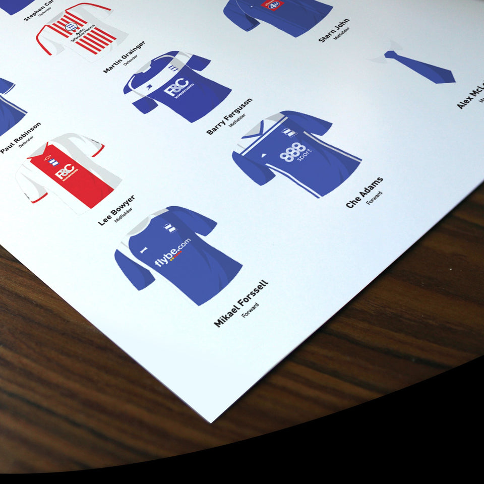 PERSONALISED Blackburn Football Team Print