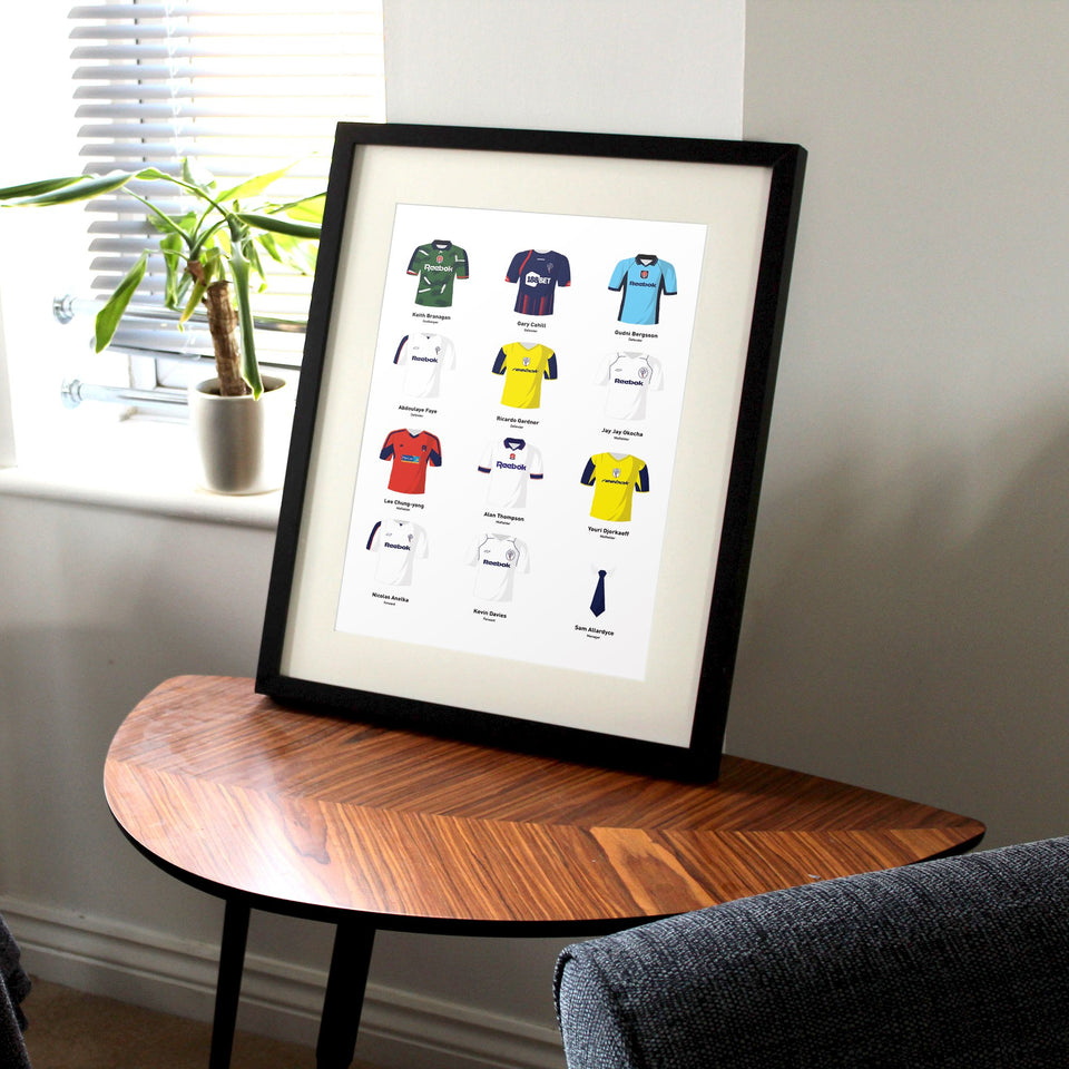 PERSONALISED Bolton Football Team Print - Good Team On Paper