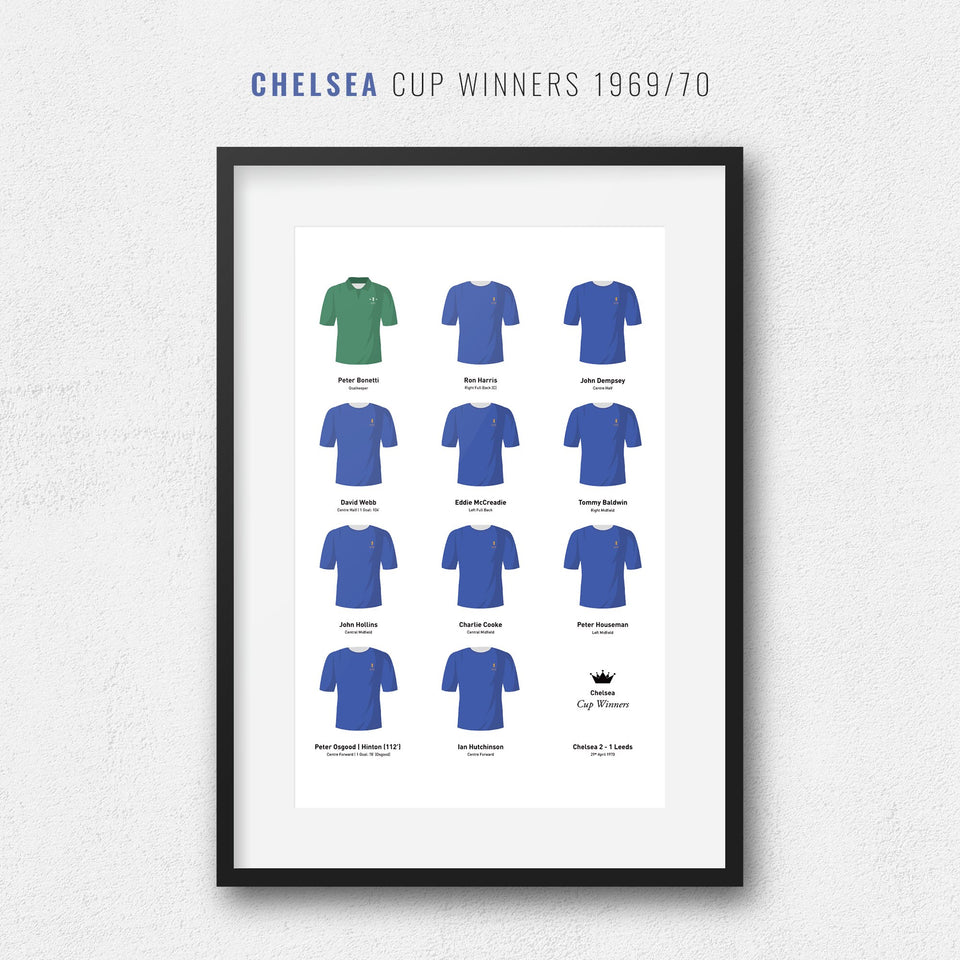 Chelsea 1970 Cup Winners Football Team Print - Good Team On Paper
