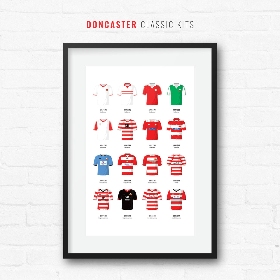 Doncaster Classic Kits Football Team Print - Good Team On Paper