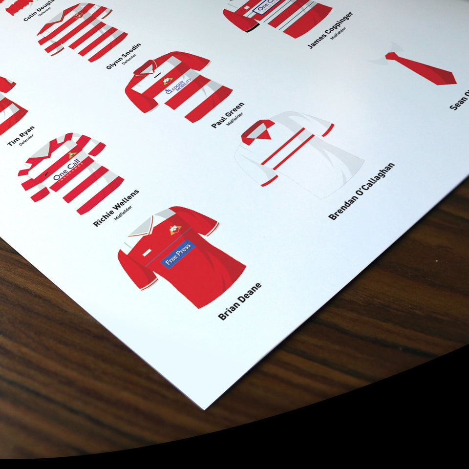 PERSONALISED Doncaster Football Team Print - Good Team On Paper