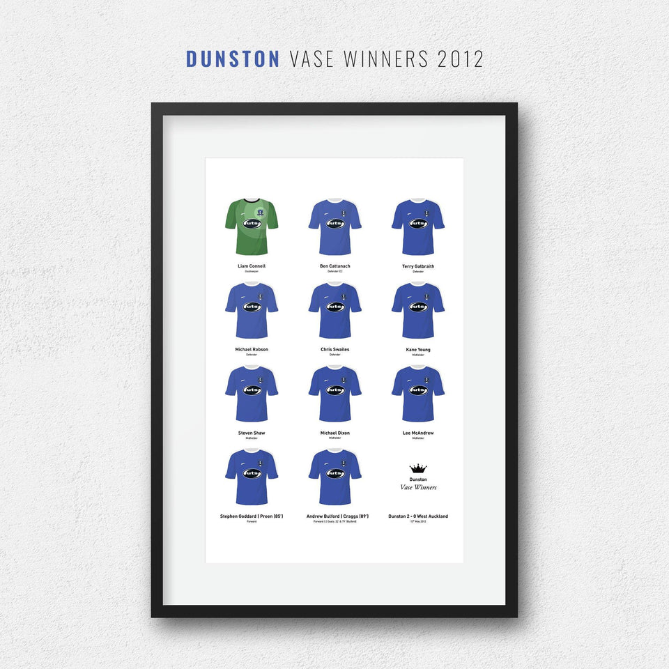 Dunston 2012 Vase Winners Football Team Print