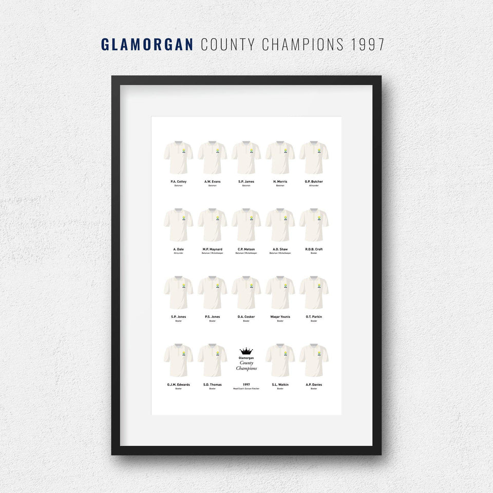 Glamorgan Cricket 1997 County Champions Team Print