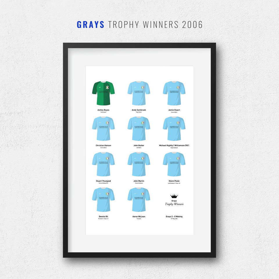 Grays 2006 Trophy Winners Football Team Print