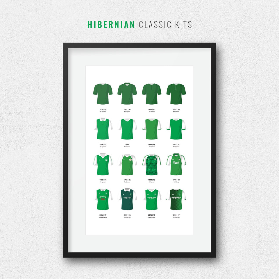Hibernian Classic Kits Football Team Print