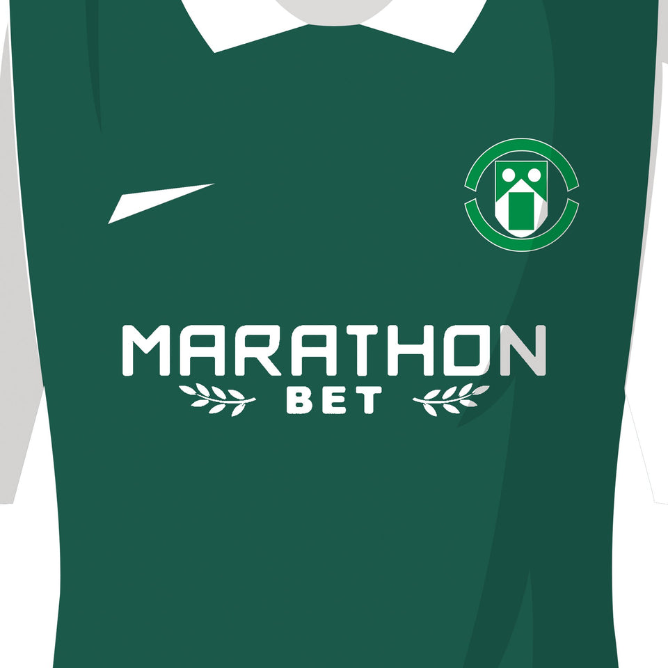 PERSONALISED Hibernian Football Team Print - Good Team On Paper