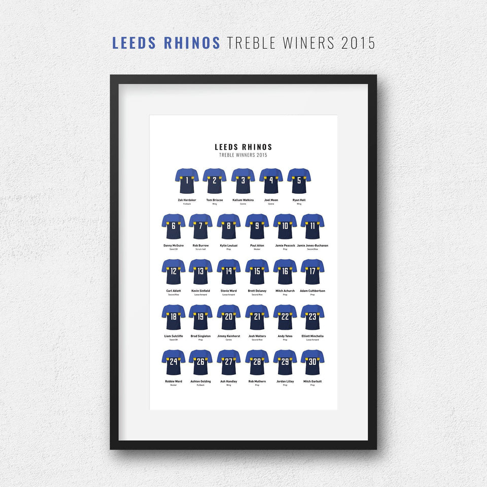 Leeds Rugby League 2015 Treble Winners Cup Team Print