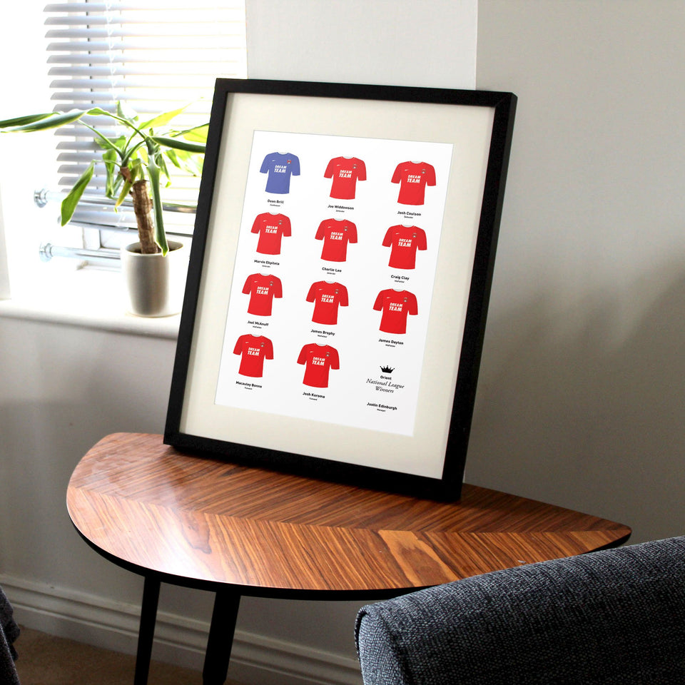 Orient 2019 National League Winners Football Team Print