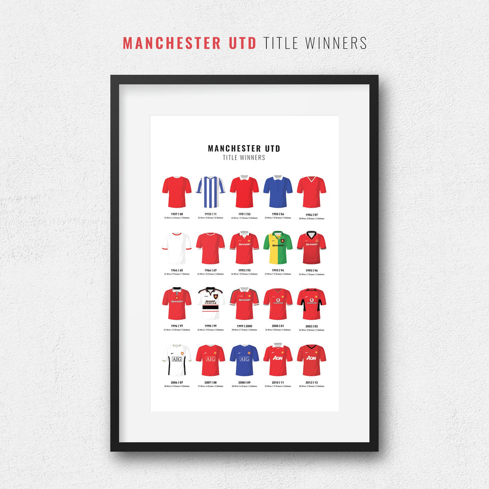 Manchester Utd Title Winners Football Team Print