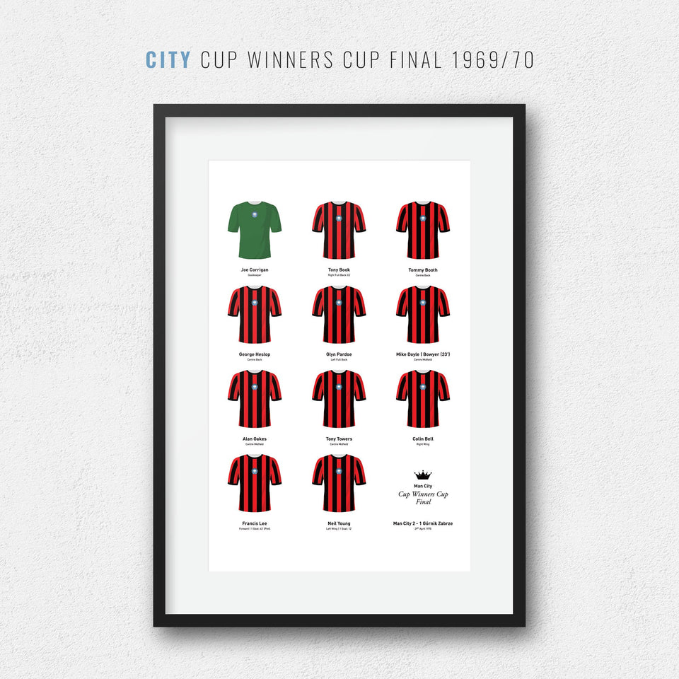 City 1970 Cup Winners Cup Final Football Team Print - Good Team On Paper