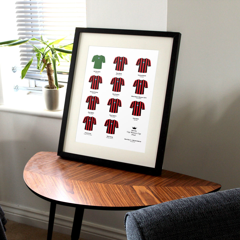 City 1970 Cup Winners Cup Final Football Team Print
