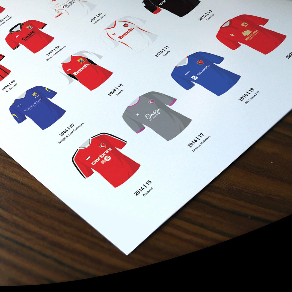 Morecambe Classic Kits Football Team Print