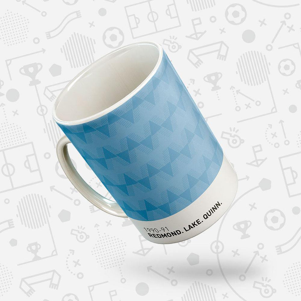 City 1990-91 Iconic Football Kit Pattern Mug
