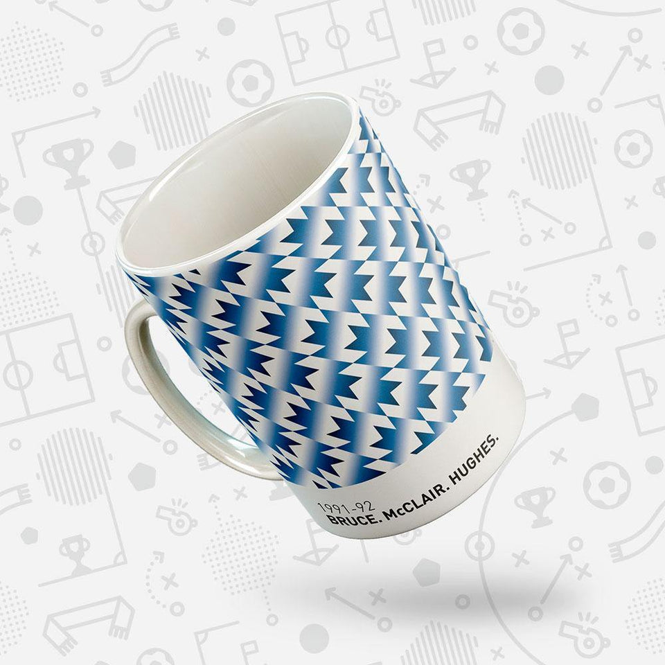 Manchester Utd 1991-92 Iconic Football Kit Pattern Mug