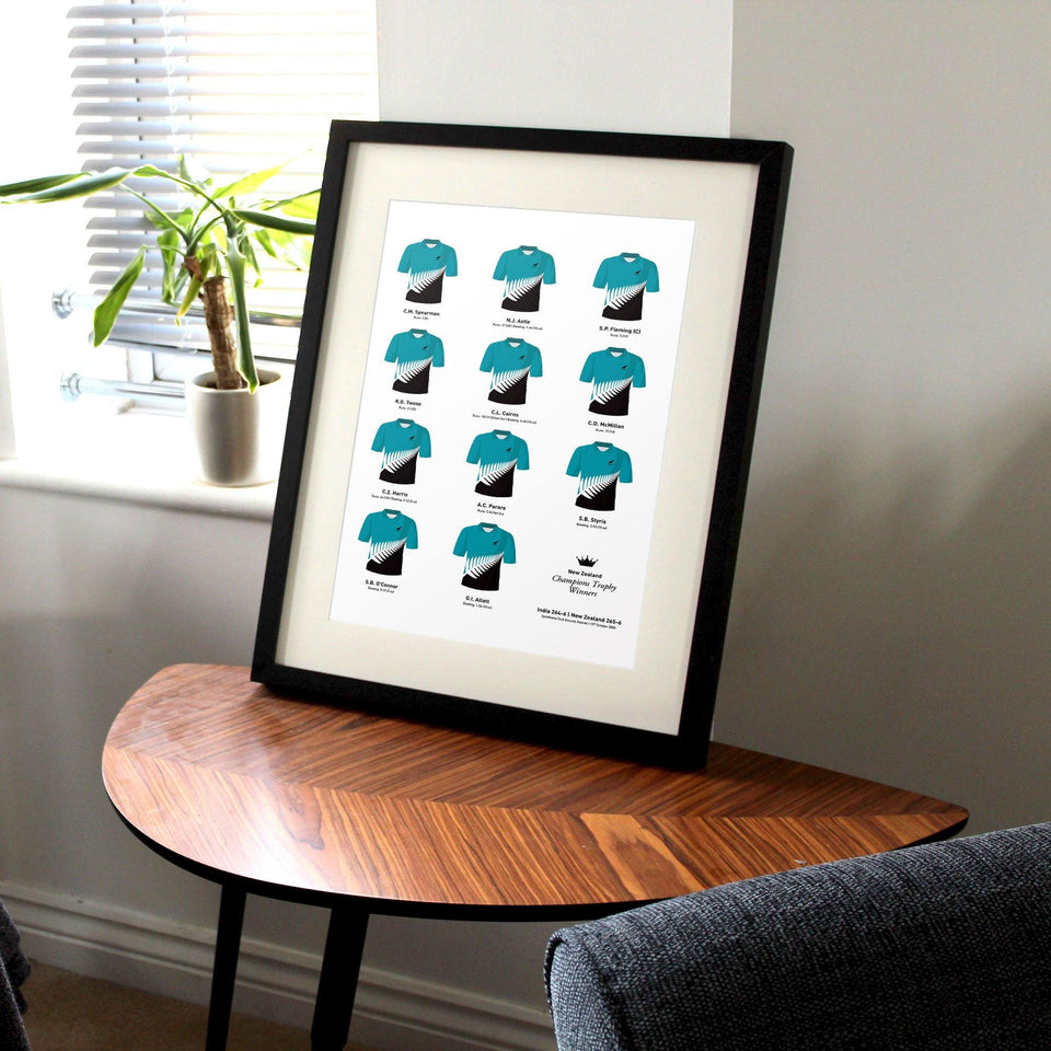 New Zealand Cricket 2000 Champions Trophy Winners Team Print