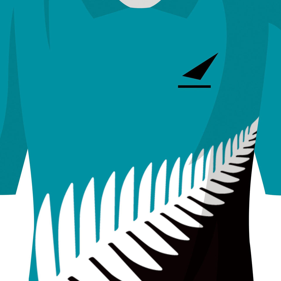 New Zealand Classic Kits Cricket Team Print