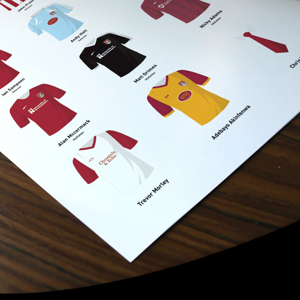 PERSONALISED Northampton Football Team Print - Good Team On Paper