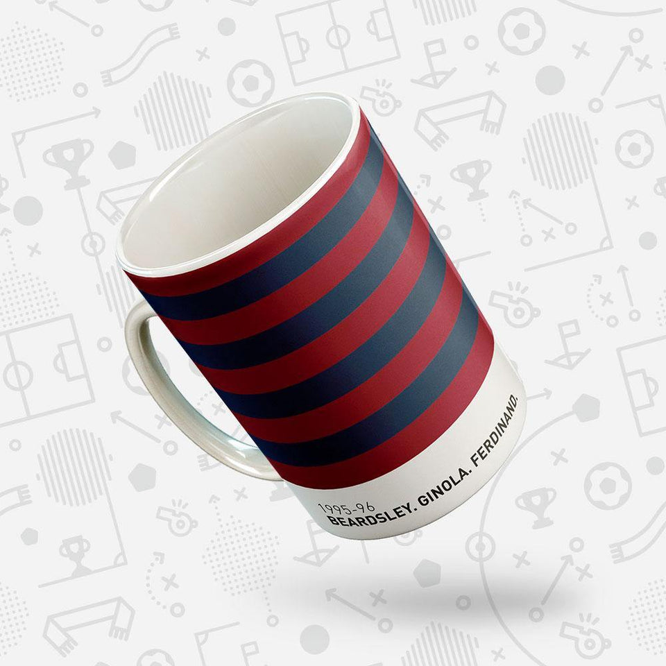 Newcastle 1995-96 Iconic Football Kit Pattern Mug