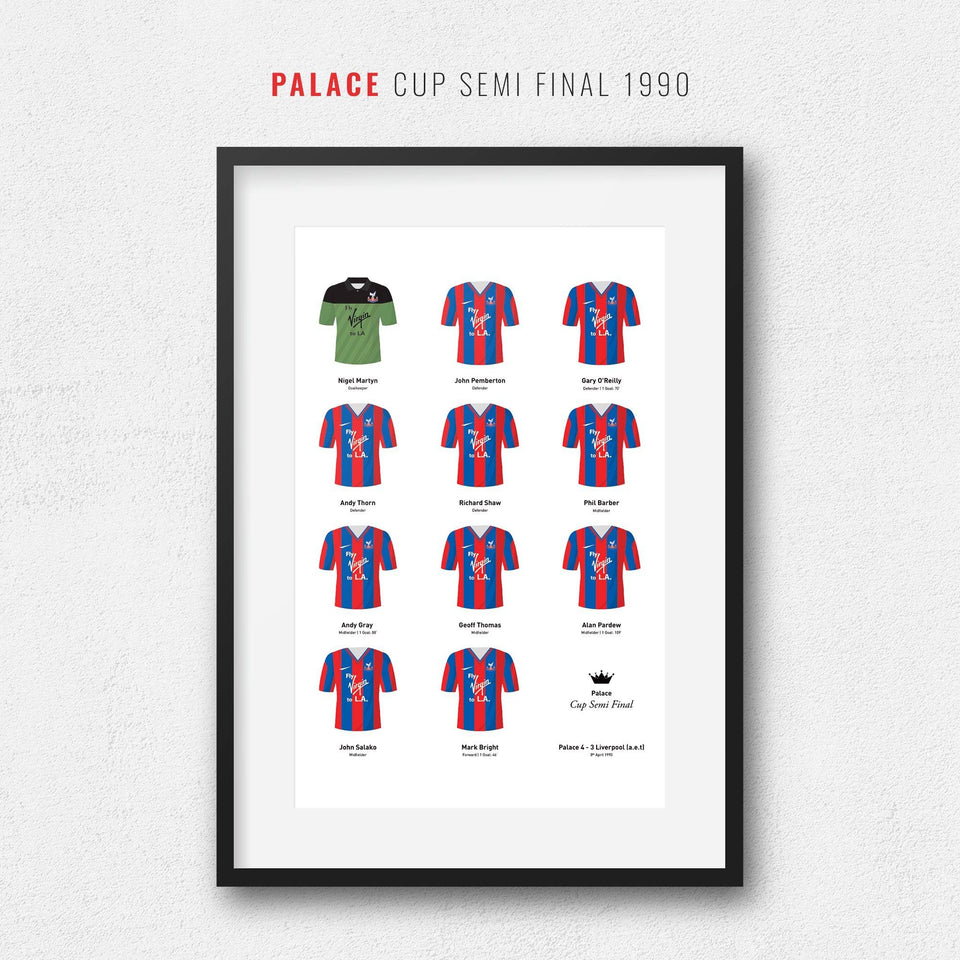 Palace 1990 Cup Semi Final Winners Football Team Print