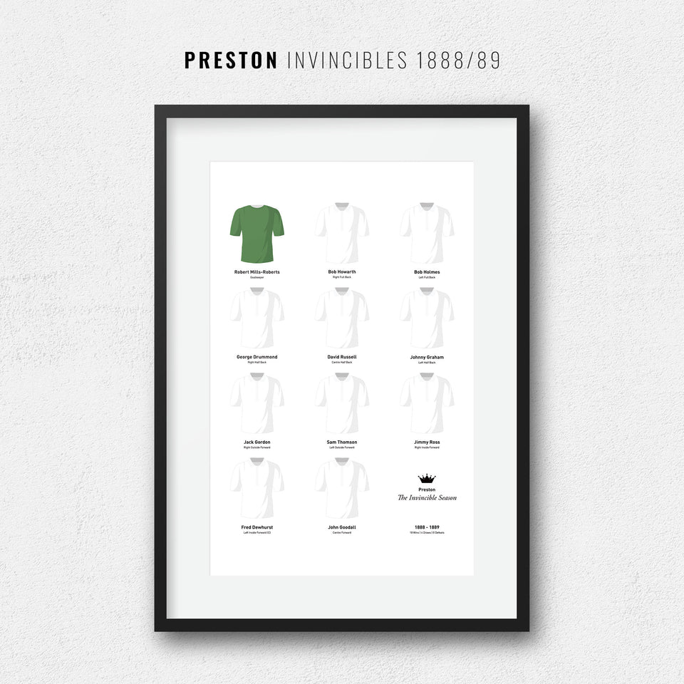 Preston 1889 Invincibles Football Team Print