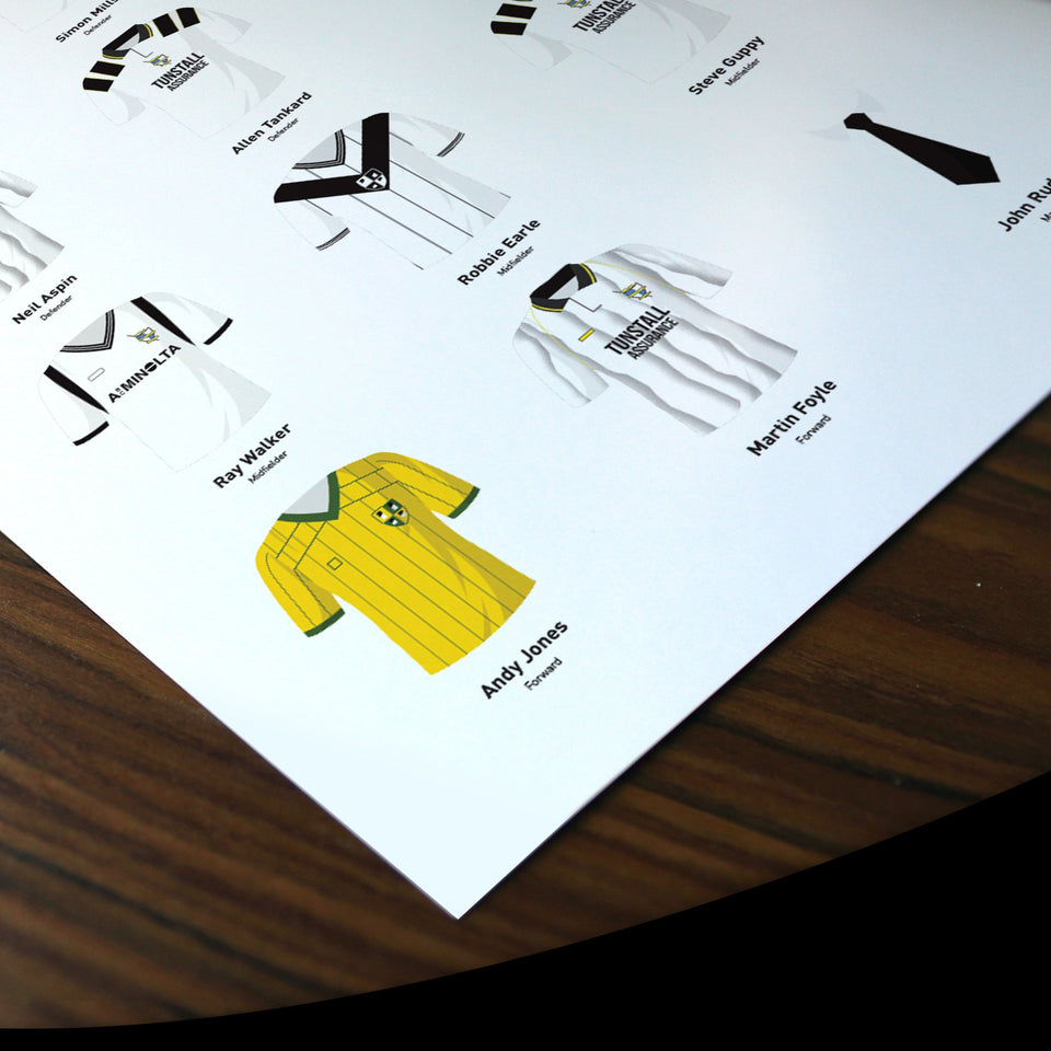 PERSONALISED Port Vale Football Team Print - Good Team On Paper