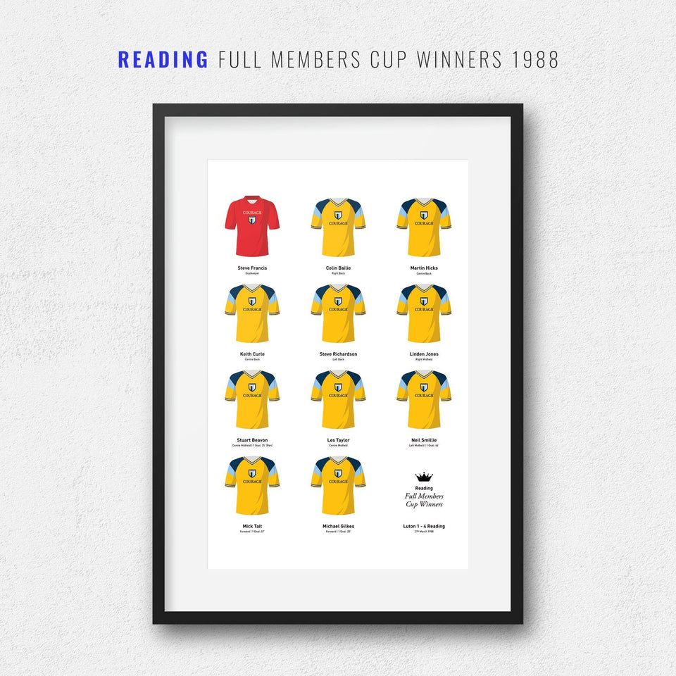 Reading 1988 Full Members Cup Winners Football Team Print