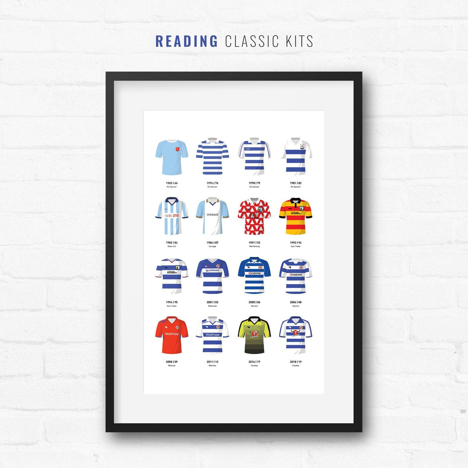 Reading Classic Kits Football Team Print