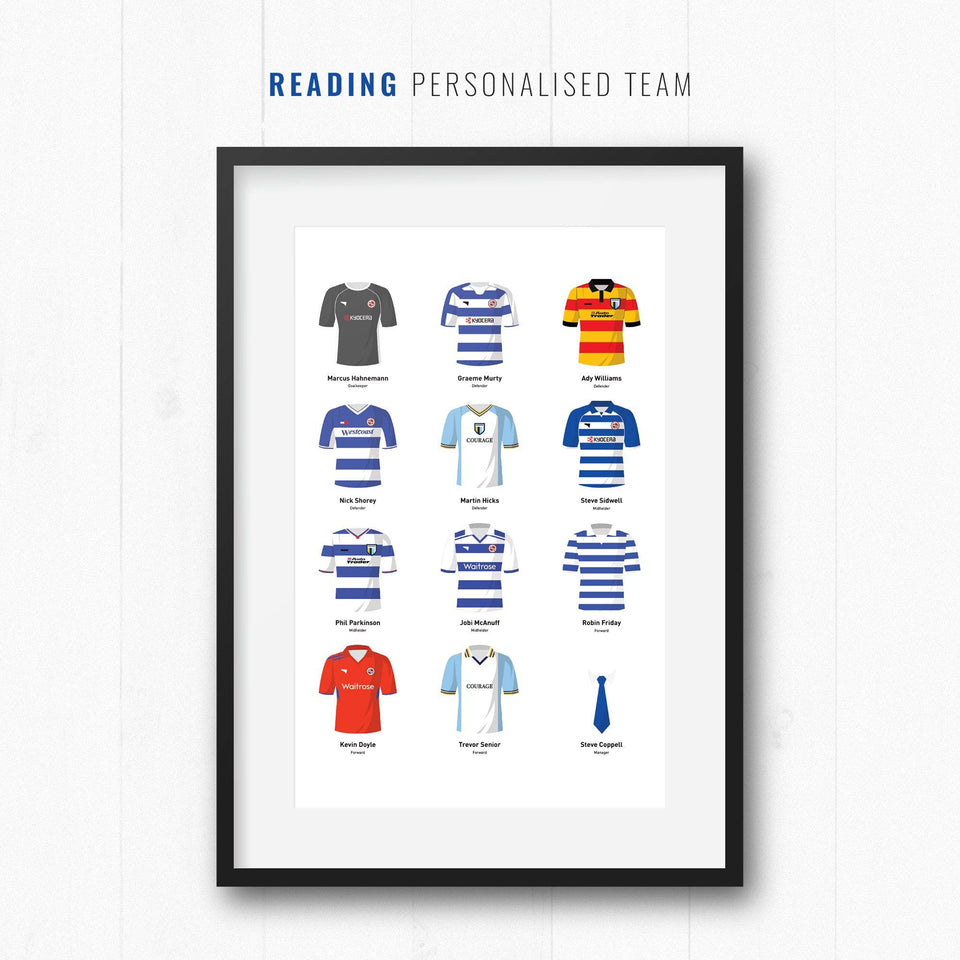 PERSONALISED Reading Football Team Print