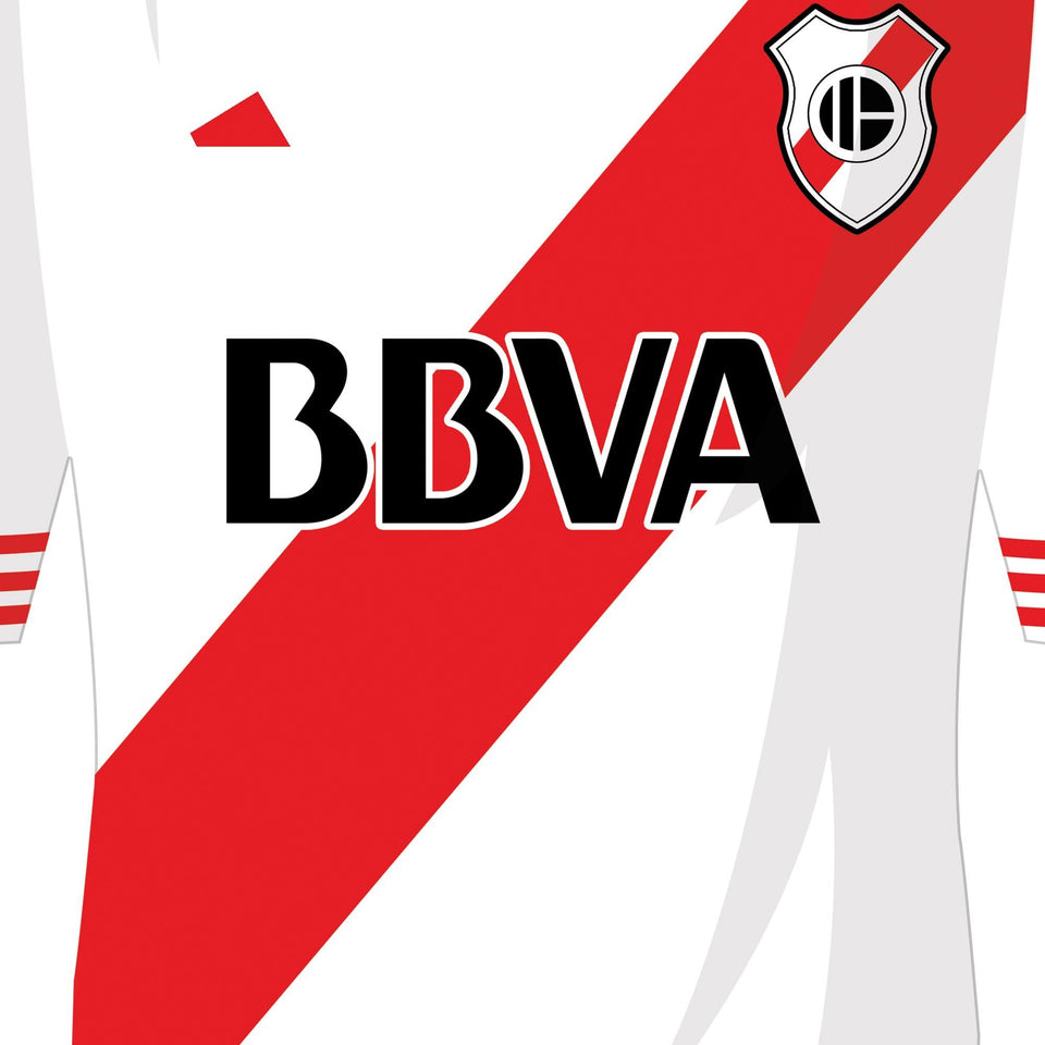 River Plate Classic Kits Football Team Print