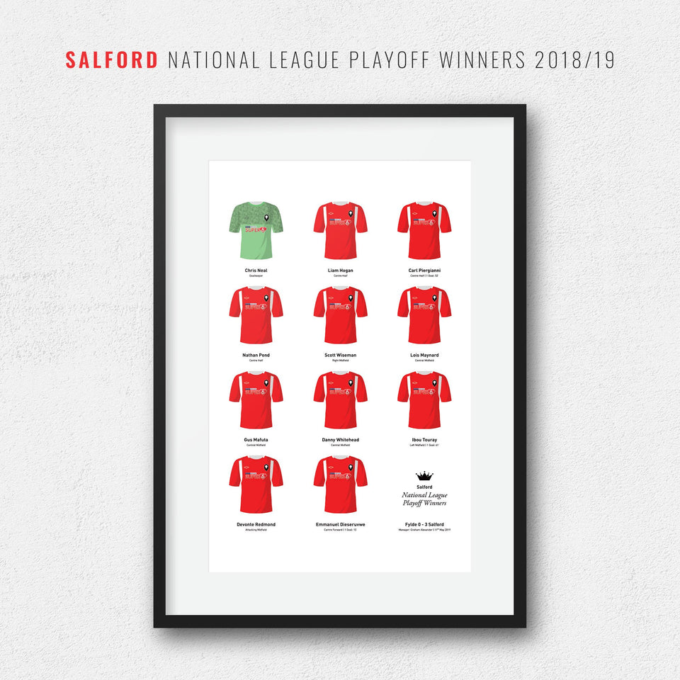 Salford 2019 National League Playoff Final Football Team Print