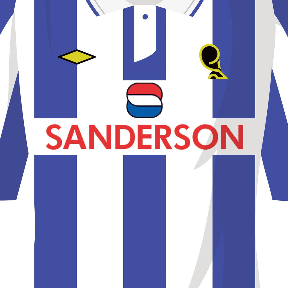 Sheff Wed 1993 Cup Semi Football Team Print