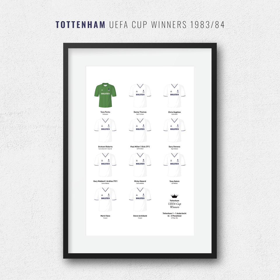 Tottenham 1984 UEFA Cup Winners Football Team Print