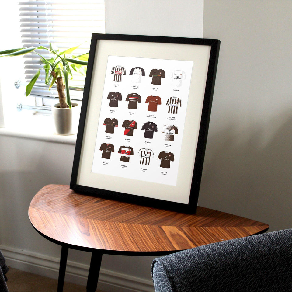 St Pauli Classic Kits Football Team Print