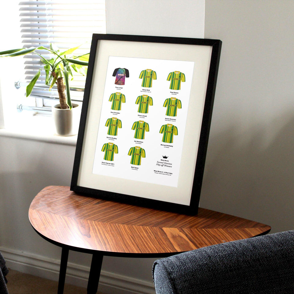 West Brom 1993 Division 2 Playoff Winners Football Team Print