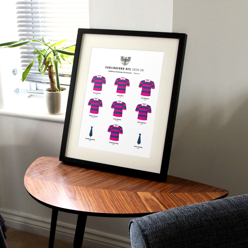 CREATE Your Custom Amateur Sports Team Print - Good Team On Paper