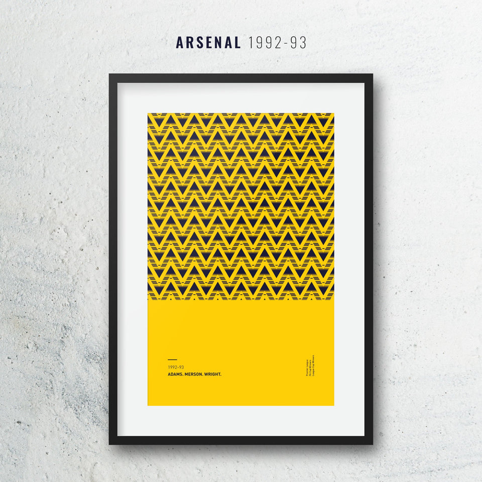 Arsenal 1992 Iconic Football Kit Pattern Print - Good Team On Paper