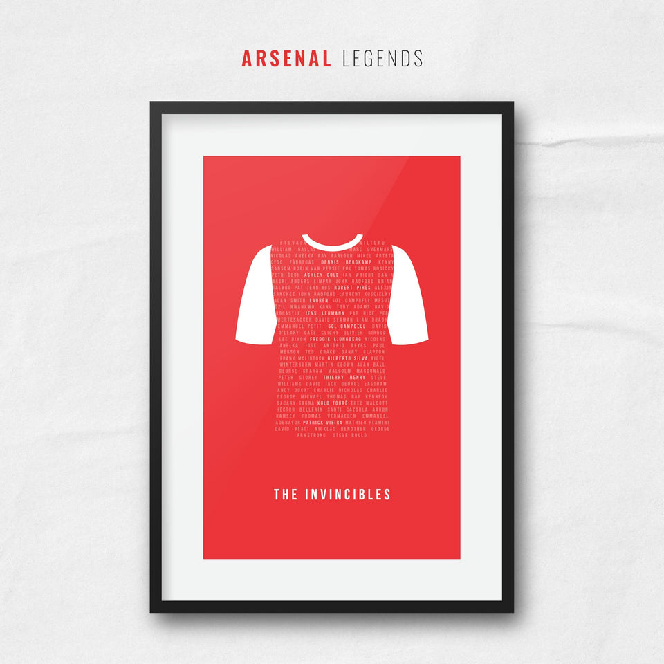 Arsenal Club Legends Football Team Print - Good Team On Paper