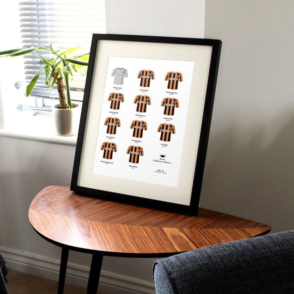 Barnet 2015 Conference Winners Football Team Print