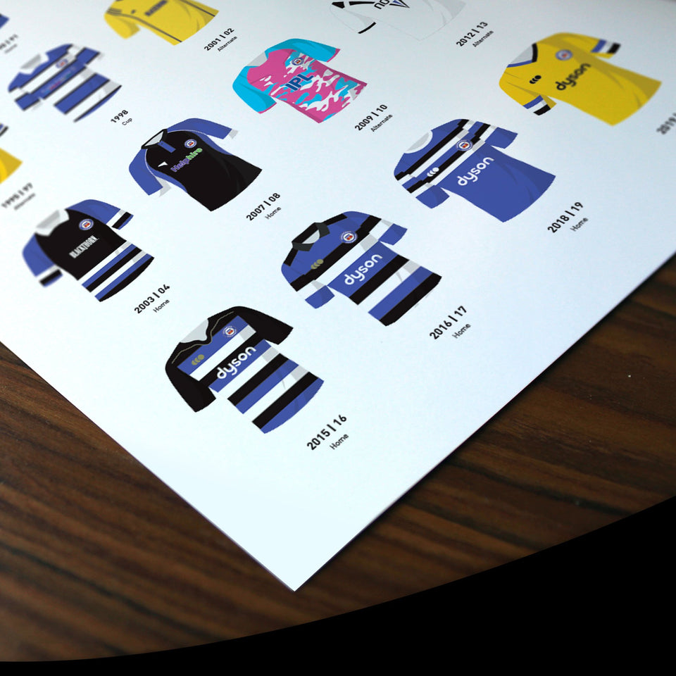 Bath Classic Kits Rugby Union Team Print - Good Team On Paper