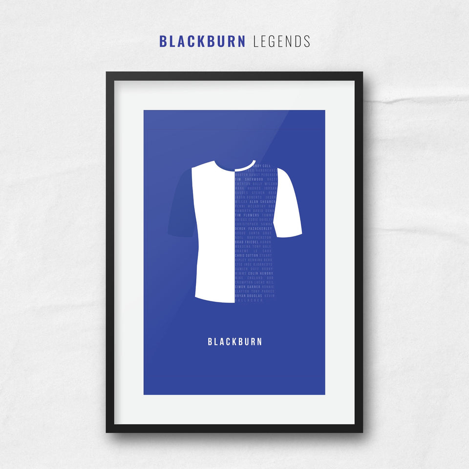 Blackburn Club Legends Football Team Print - Good Team On Paper