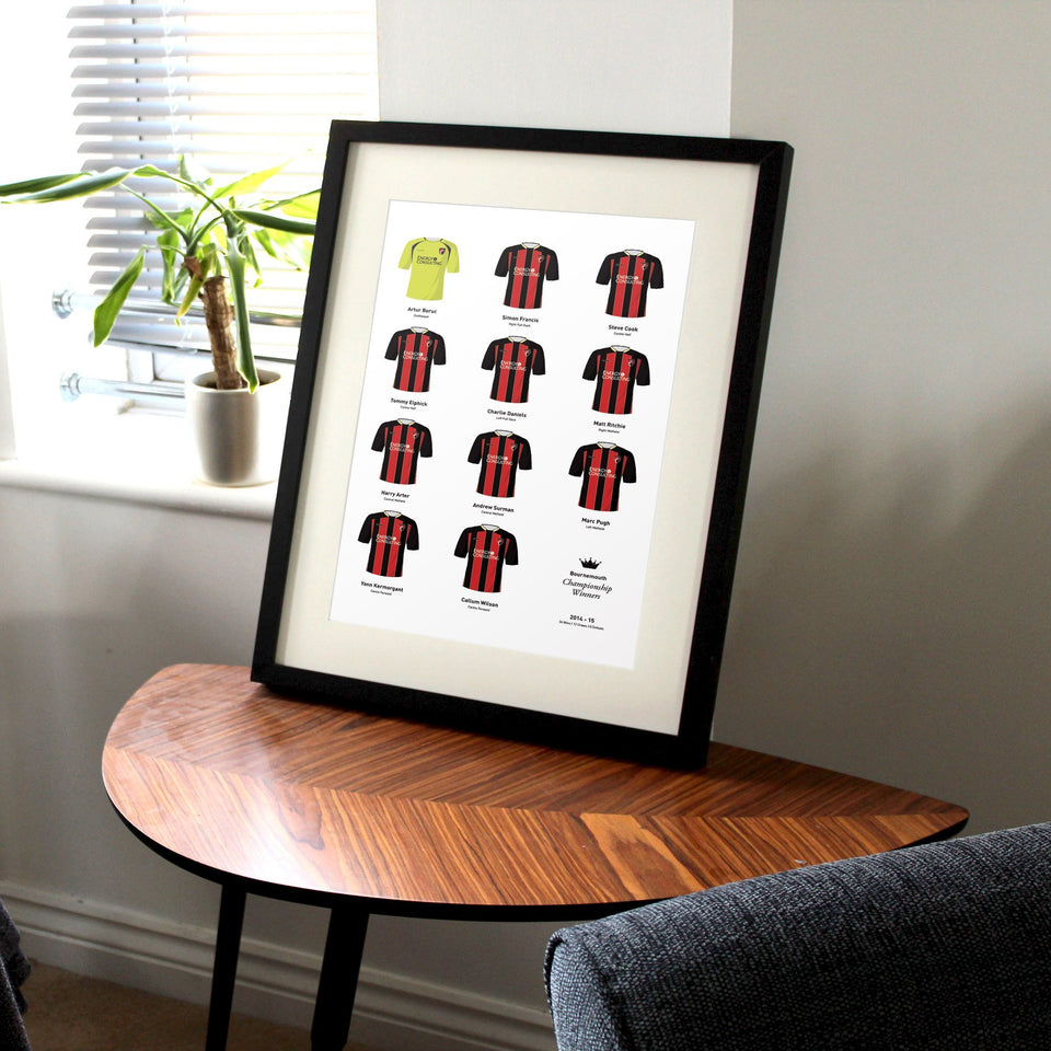 Bournemouth 2015 Championship Winners Football Team Print