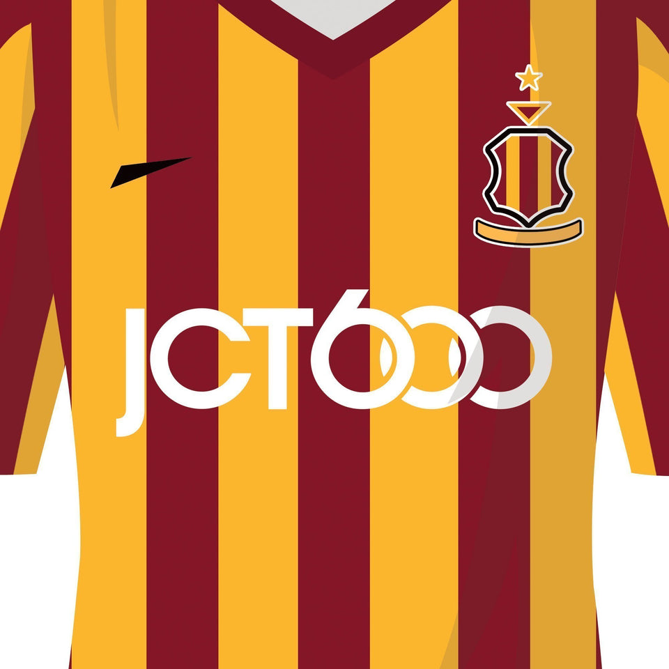 Bradford 2015 Cup 4th Round Football Team Print