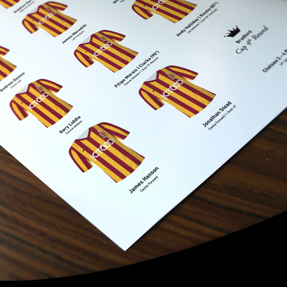 Bradford 2015 Cup 4th Round Football Team Print - Good Team On Paper