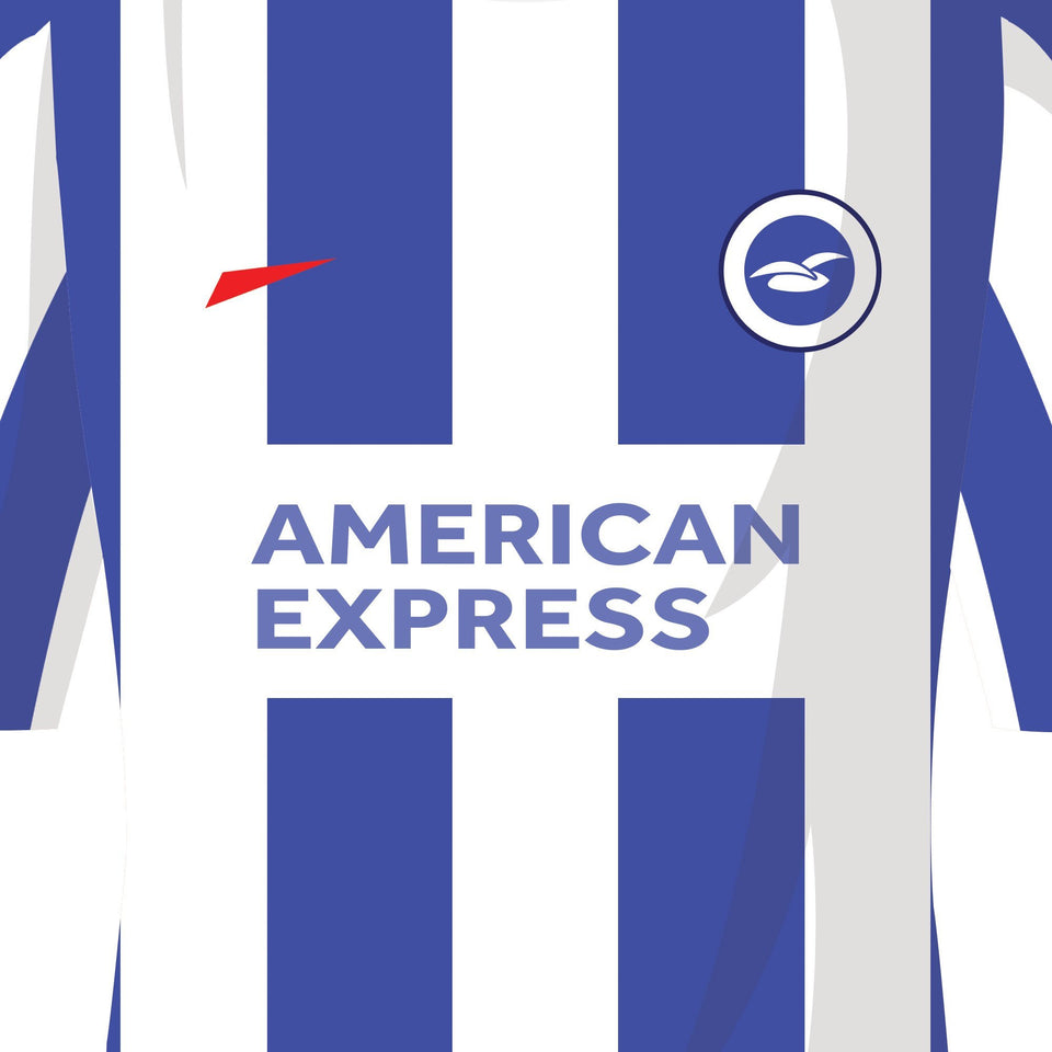Brighton Classic Kits Football Team Print-Good Team On Paper