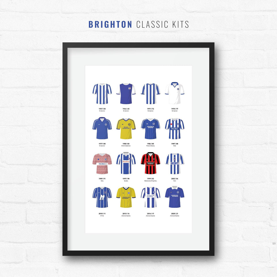 Brighton Classic Kits Football Team Print