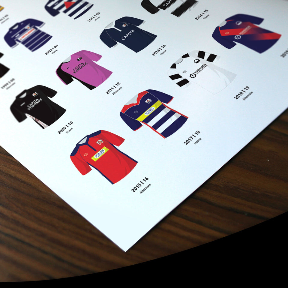 Bristol Classic Kits Rugby Union Team Print - Good Team On Paper