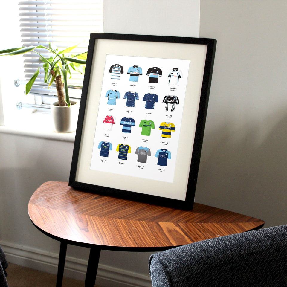 Cardiff Classic Kits Rugby Union Team Print - Good Team On Paper