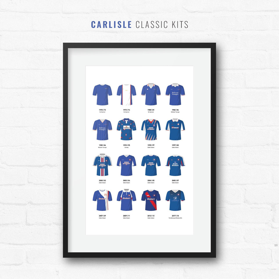 Carlisle Classic Kits Football Team Print-Good Team On Paper