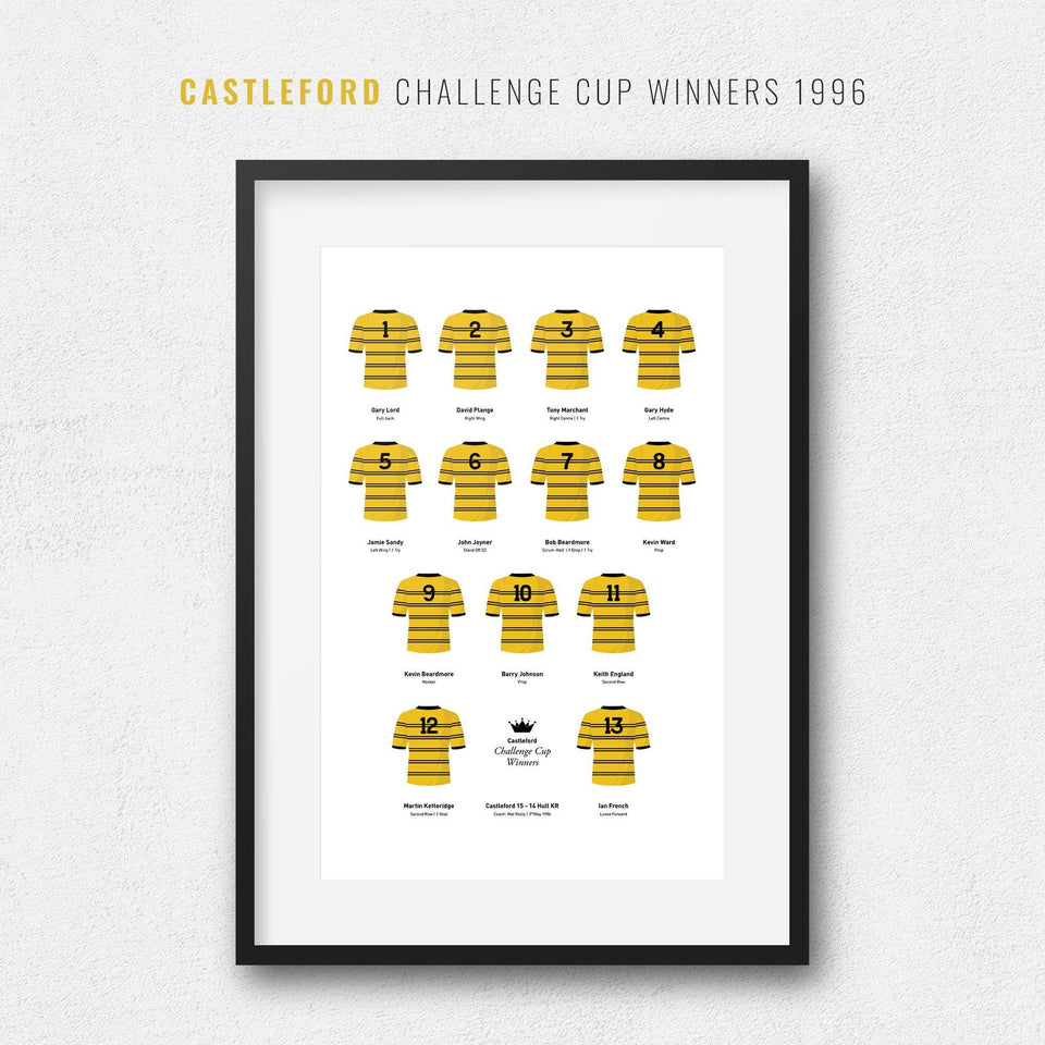 Castleford Rugby League 1986 Challenge Cup Winners Team Print