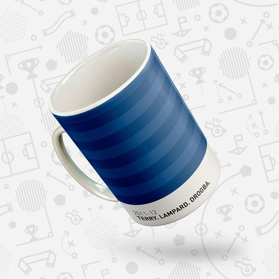 Chelsea 2011-12 Iconic Football Kit Pattern Mug